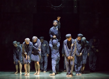 Northern Ballet dancers in The Boy in the Striped Pyjamas. Photo Emma Kauldhar (4)