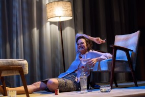 The Graduate Play - Curve Leicester - Review - Catherine McCormack as Mrs Robsinon. Photography by Manuel Harlan