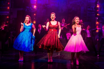 Gracie Johnson, Laura Darton & Elizabeth Carter (l-r) in the Dreamboats and Petticoats 2017 UK Tour. Photo by Pamela Raith Photography 059