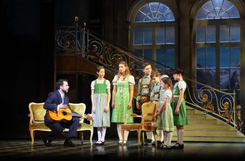 The cast of the musical 'The Sound of Music' on stage at The Bord Gais Energy Theatre,Dublin. Picture Brian McEvoy Photography