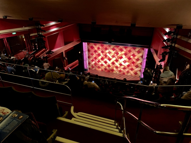 Where to sit - View from seat - Waitress - Adelphi Theatre London - Theatress Blog 7